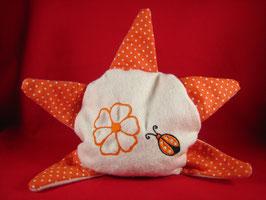 Bouillotte sèche étoile orange