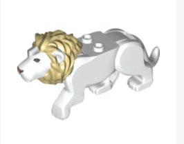 Witte mannetjes leeuw