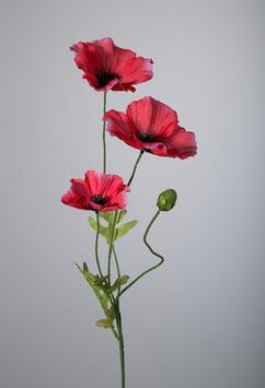 Poppy Spray x3 fl. 1bud & 3lvs 63cm