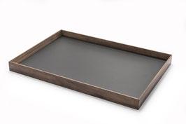Tablett - Nussbaum & Möbellinoleum charcoal