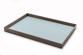 Tablett - Nussbaum & Möbellinoleum aquavert