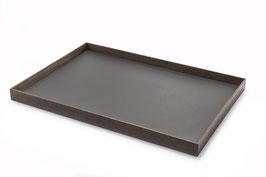 Tablett - Räuchereiche & Möbellinoleum charcoal 55x38