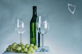 Wine glasses | Hand graven