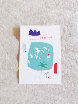 Postkarte – Say it »you are my happy place«