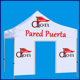 Pared Puerta Publicitaria 3x1,9M tejido impermeable