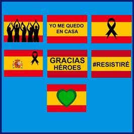 Bandera Balconera Coronavirus