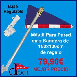 Mastil Para Pared más Bandera de Regalo de 150x100cm