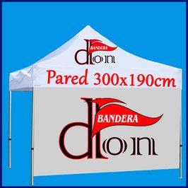 Pared Carpa Publicitaria 3x3M tejido de banderas