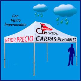 Carpa Publicitaria 3x4,5M techo impermeable