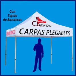 Carpa Publicitaria 3x3M tejido de banderas