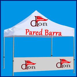 Pared Mostrador Publicitaria 300x100cm tejido de banderas