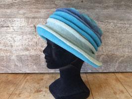 Chapeau en tissu polaire 3 bleus