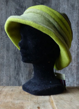 Chapeau en tissu polaire 3 verts/kaki