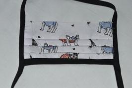 Mund - Nasenbedeckung Bulldogge