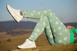 Leggings EDDA mint Pusteblume
