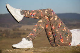 Leggings EDDA Braun/Flower
