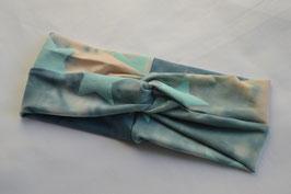 Turbanstirnband blau gemischt mit Sternen