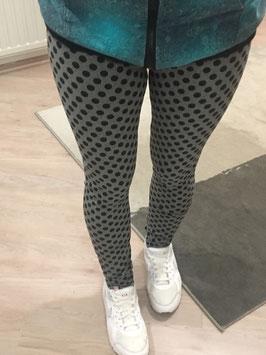 Leggings EDDA Grau mit schwarzen Punkten