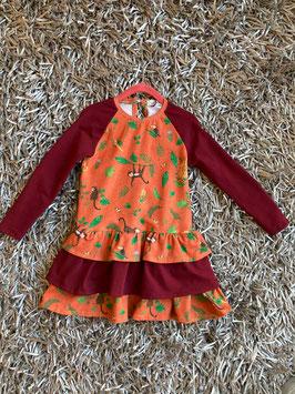 Kinderkleid mit Äffchen-Motiv