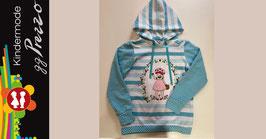 Hoodie für Mädchen Farbe blau/weiß