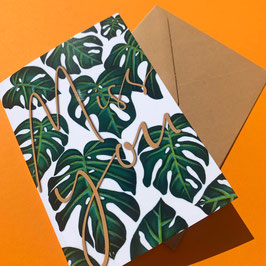 """Monstera """"Miss You"""" Card"""