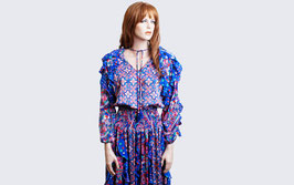 RESERVED Diane Freis Blue Floral Dress