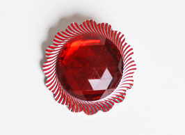 Red Circle Jewel Pin