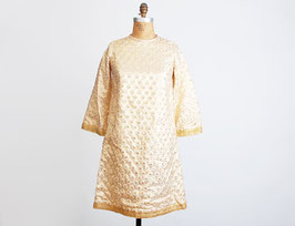 Gold Lame Polka Dot Dress