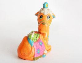 Paper Mache Camel Figurine Bank