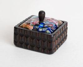 Wood Enameled Copper Box