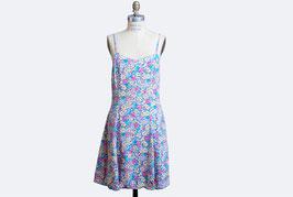 Grunge Floral Mini Dress