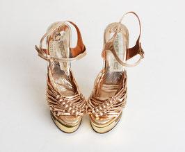 Gold Metallic Platform Heels