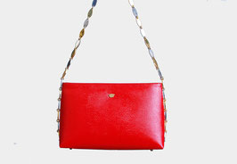 Red Vinyl Chain Bag