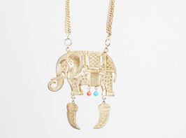 Elephant Plaque Pendant
