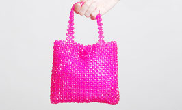 Pink Plastic Bead Purse