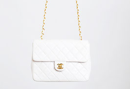 SOLD OUT - Chanel White Quilted Mini Flap Bag