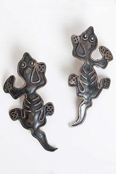 Sterling Iguana Earrings
