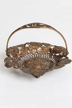 Art Nouveau Bronze Basket