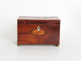 Georgian Mahogany Inlaid Tea Caddy
