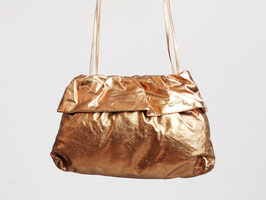 Gold Leather Shoulder Bag