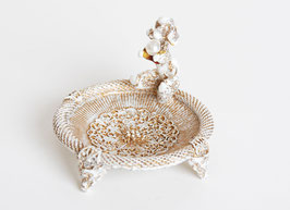 French Poodle Pearl Jewelry Dish Tray