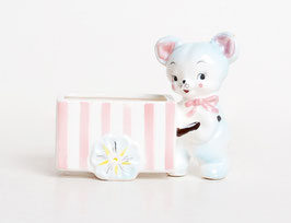 Pink & Blue Bear Cart Bowl