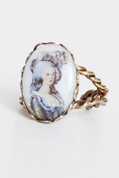 Victorian Portrait Brass Ring