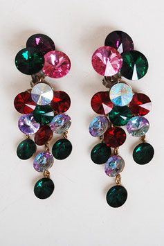 Rivoli Rhinestone Earrings