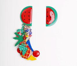 Enamel Fruit Earrings