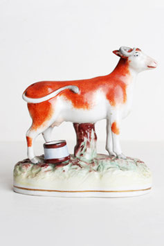 Staffordshire Cow Figurine