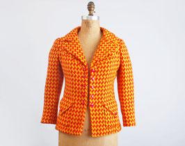 Yellow & Orange Tweed Blazer