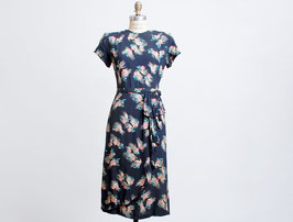 Navy Floral Wiggle Dress