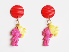 Rainbow Brite Charm Earrings
