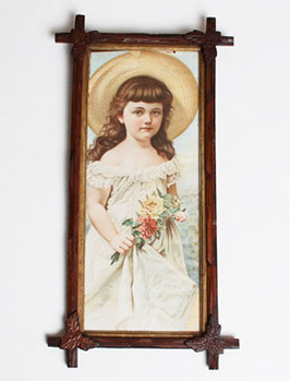 Victorian Girl Lithograph